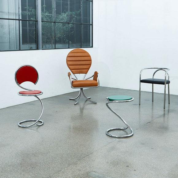 PH蛇椅、PH教皇椅、PH蛇凳、PH椅(从左到右)