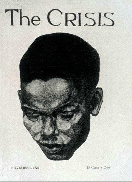 亚伦·道格拉斯为黑人杂志设计的封面(1926年)