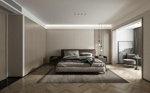 二层主卧室效果图