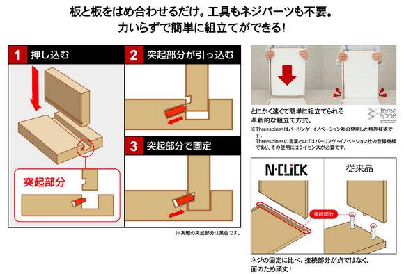 """N-Click""家具系列组装过程。图片来自宜得利日本网上商城"