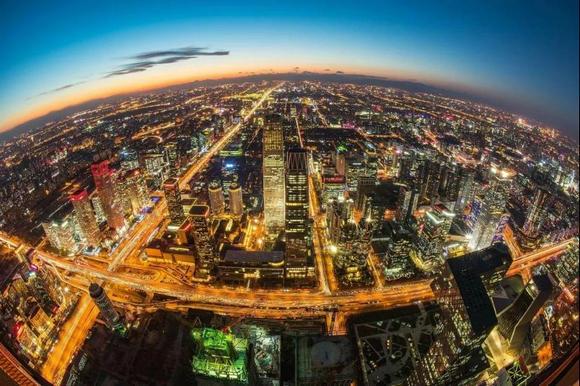 广东夜景图俯视图