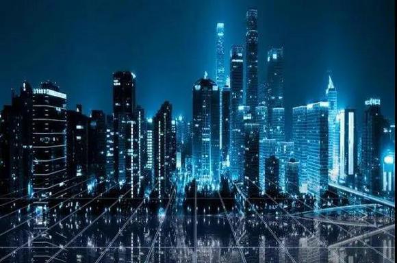 广东城市夜景图