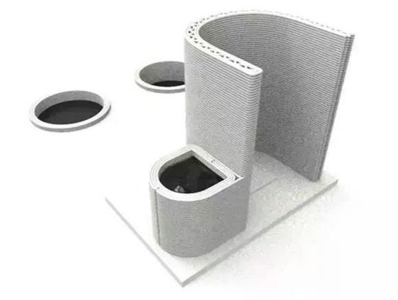 汉密尔顿实验室打造的印度3D打印混凝土厕所