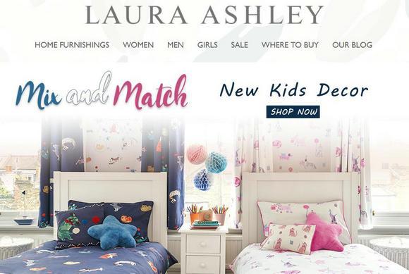 英国家居时尚品牌 Laura Ashley 将把中国市场作为发展重点