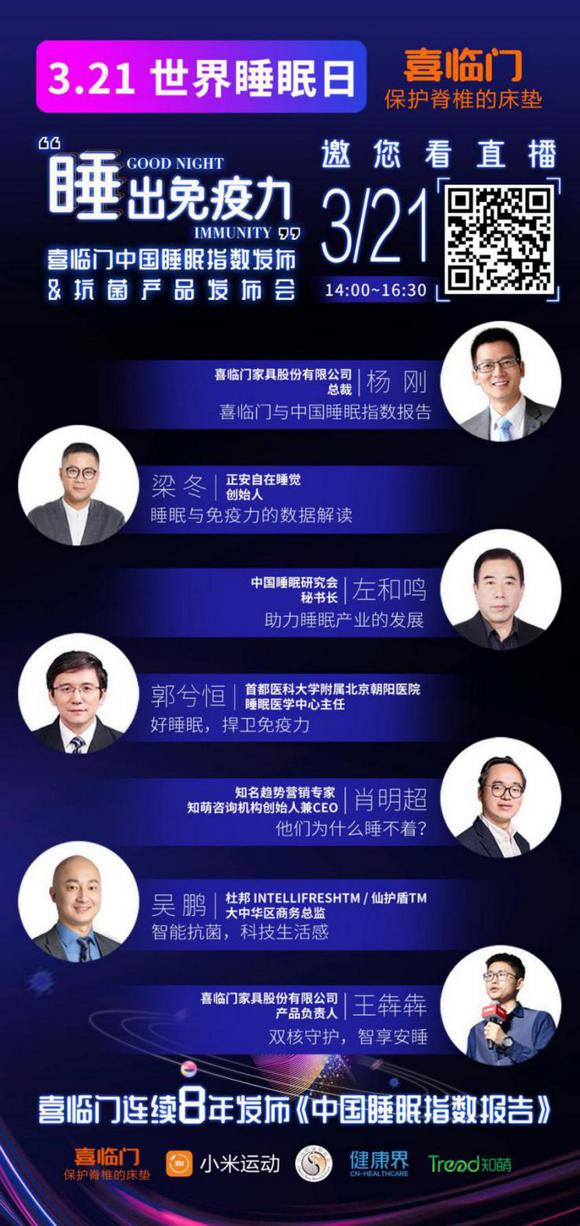 喜临门2020中国睡眠指数报告大会